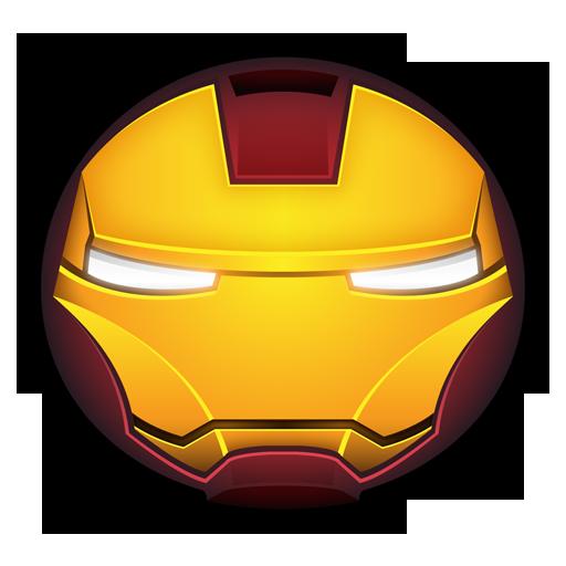 苹果ipad2_钢铁侠头盔PNG图标 512x512 - 设计之家