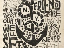 JonContino漂亮的文字插画