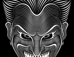 PatrickSeymour独特的线条插画作品