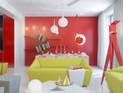 色彩豐富的概念小公寓設計