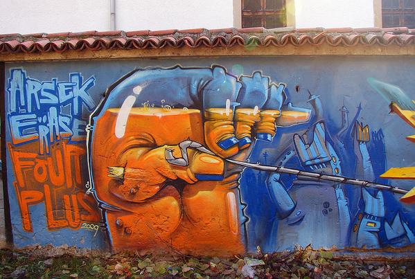 30个国外创意街头涂鸦作品 - 设计之家