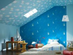 可爱设计的儿童」房墙纸