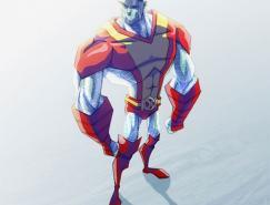 X战警人物插画:钢巨人(Colossus)