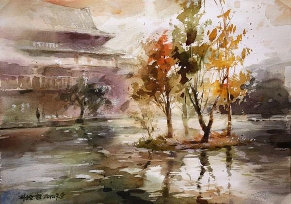 台湾年轻画家林经哲水彩画作品欣赏   说说你对画家林风眠和他的作品