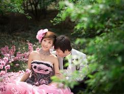 Photoshop打造漂亮的暖色树林婚片