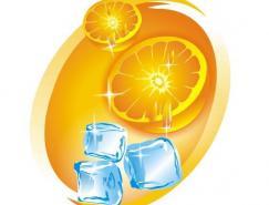 CorelDRAW绘制质感的橙子和冰块