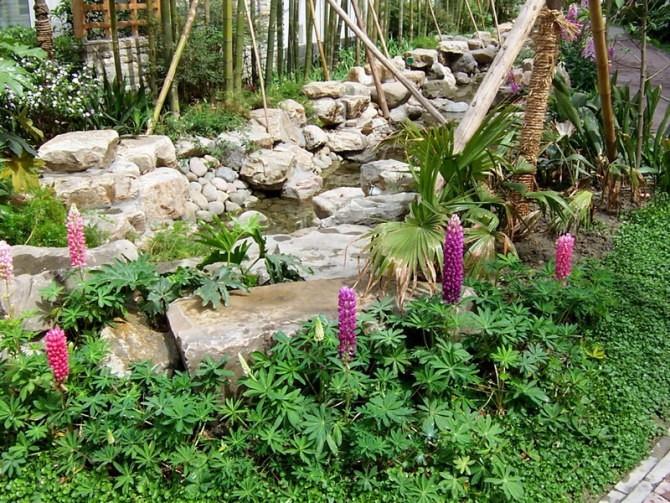 花境在园林景观中位置选择的重要性