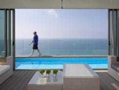 以色列豪华复式海景住宅设计
