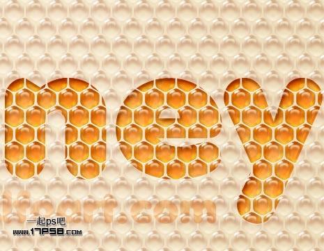 利用图案及样式制作非常可爱的蜂窝水晶字