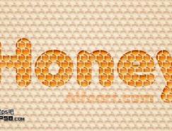 利用圖案及樣式制作非常可愛的蜂窩水晶字