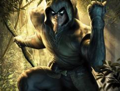 DC漫画英雄人物插画:绿箭侠