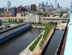 费城德拉瓦河沿岸的RaceStreet码头公共公园