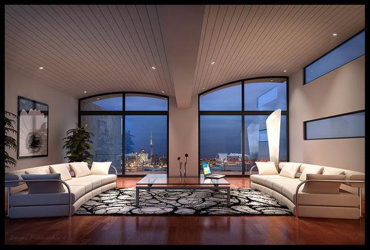 43张漂亮的3d室内设计效果图
