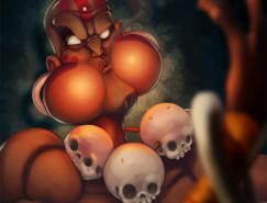 街霸游戏人物插画:Dhalsim(达