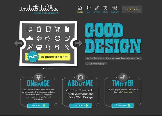 30个漂亮的黑色网站设计欣赏