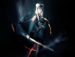 Photoshop合成超酷的火焰武士