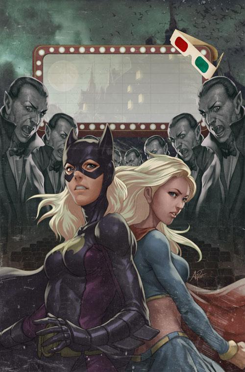 动漫英雄人物:蝙蝠女(Batgirl)插画欣赏