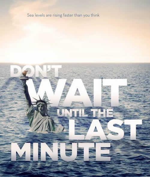 警示全球变暖公益海报设计欣赏图片