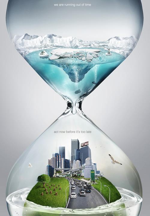 警示全球变暖公益海报设计欣赏