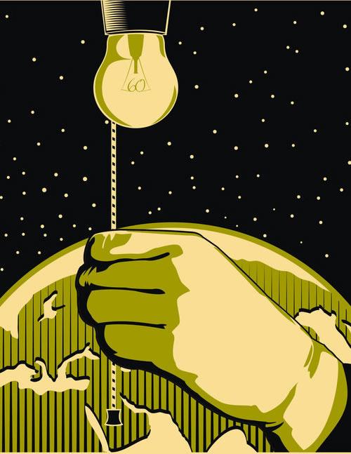 警示全球变暖公益海报设计欣赏(4)