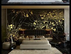 现代时尚的卧室背景墙设计