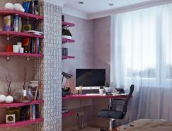 漂亮的青少年房间设计