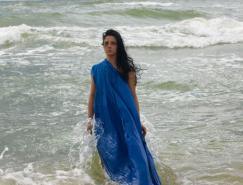 Photoshop打造冷艳的海滩人物图片