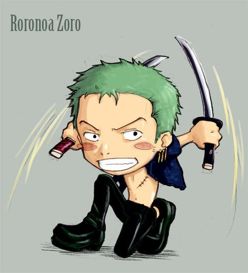 海贼王漫画人物插画 罗罗诺亚 索隆 Roronoa Zoro 3