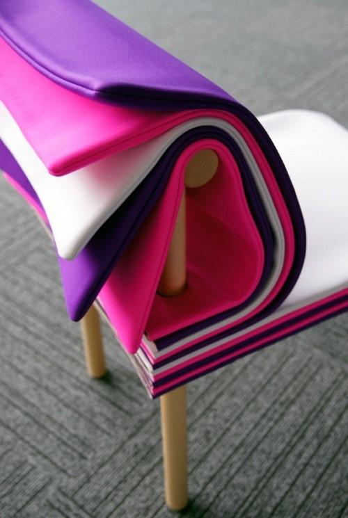 日本6474设计事务所:个性化的翻页椅