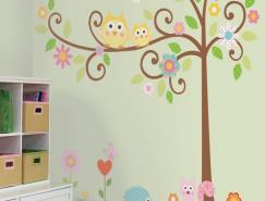 绿色自然风格墙贴创意设计