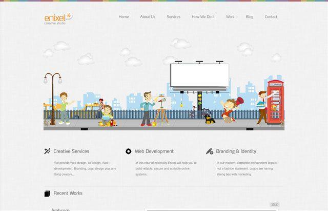 网页设计欣赏:漂亮的插画应用(4)图片