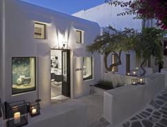 希腊Mykonos岛传统建筑内的Li