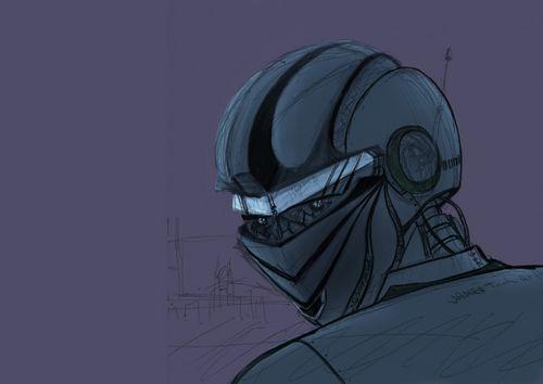 ps鼠绘星球大战中的外太空机器人