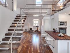 斯德哥尔摩6米高复式阁楼公寓设计
