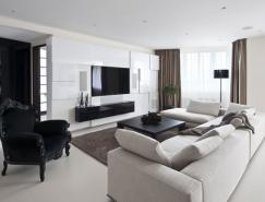 俄罗斯Zelenograd现代优雅的公寓设计
