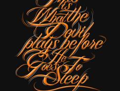 50个精美的英文字体设计欣赏