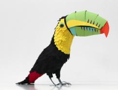 美丽的纸鸟:DianaBeltranHerrera纸雕艺术