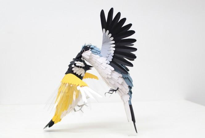 纸浮雕手工图片动物
