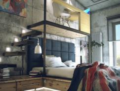 MaximZhukov:个性化的Loft效果图设计