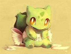 口袋妖怪角色插画:妙蛙种子(Bulbasaur)