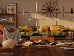 现代时尚的家居墙面纹理