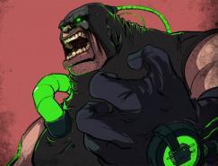 蝙蝠俠人物角色插畫:班恩(Bane)