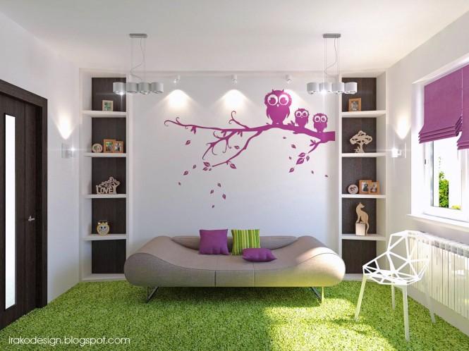 可爱的女孩房间设计