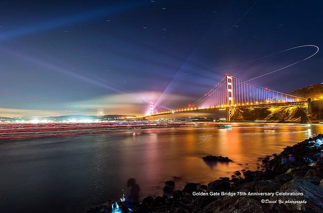 DavidYu金门大桥夜景摄影