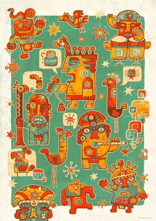 SteveSimpson漂亮的插画和包装欣赏