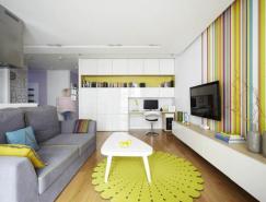 大胆的色彩定义:波兰华沙漂亮的公寓设计