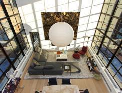 纽约现代豪华的顶层复式公寓设计