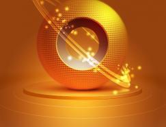 Photoshop制作一個漂亮的金色球體圖標