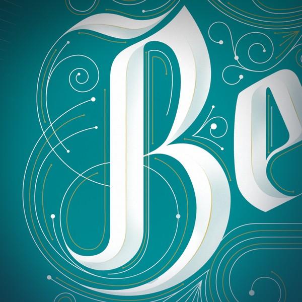 JordanMetcalf漂亮的字体设计