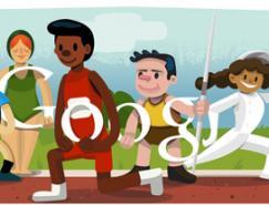 2012伦敦奥运会Google徽标(dood